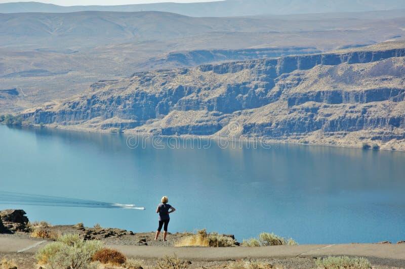 Положение Айдахо взгляда резервуара Brownlee изумительное стоковые фотографии rf