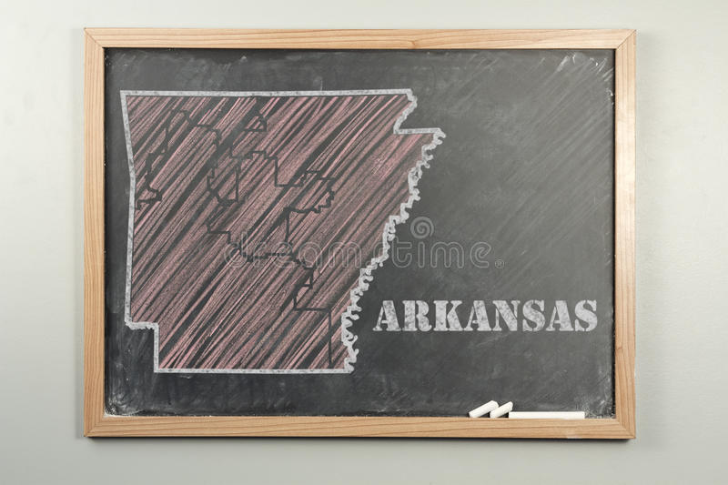 Положение Арканзаса стоковые изображения