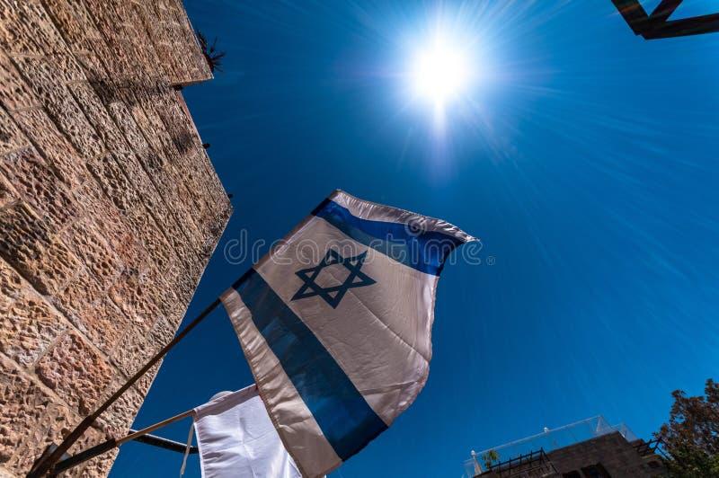 положение Израиля флага стоковая фотография