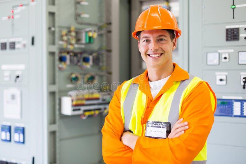 Положение инженер-электрика стоковое изображение