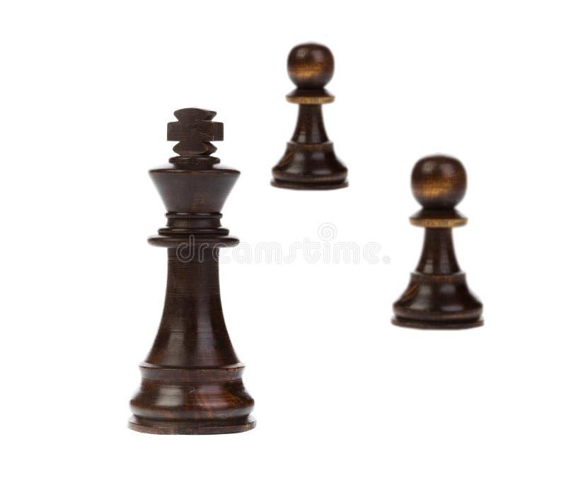 Положение короля шахмат стоковая фотография rf