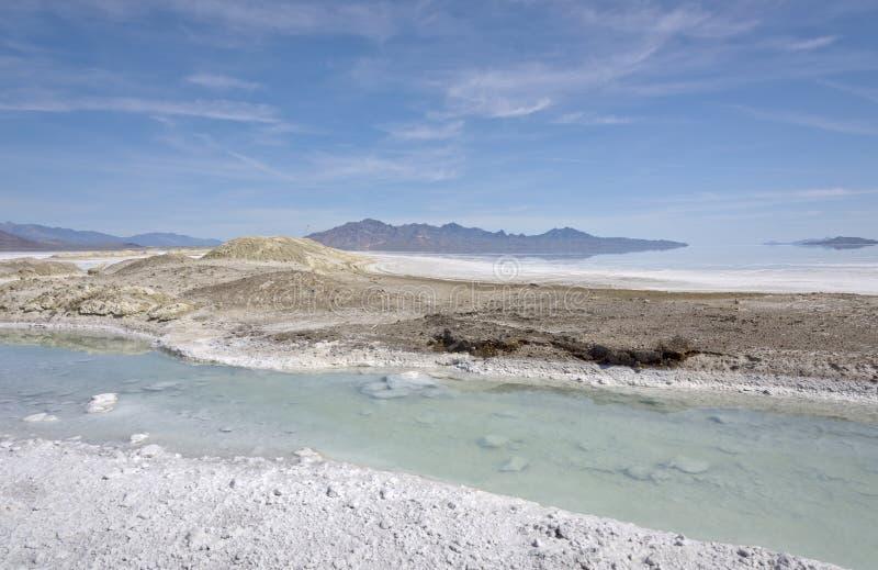 Положение Невады квартир озера сол стоковые изображения