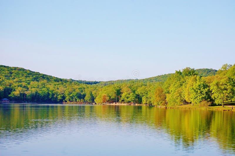 Положение Нью-Йорк США озера Sebago стоковое изображение
