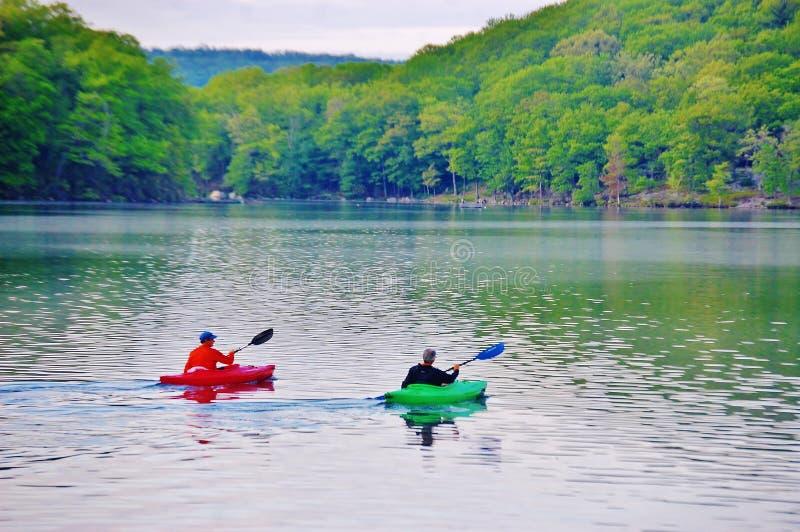 Положение Нью-Йорк США озера Sebago стоковые изображения rf