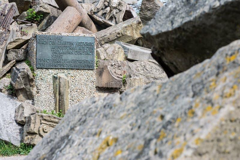 Положение памятника парка Birkenkopf Штутгарта обозревает взгляд Panora стоковое фото rf
