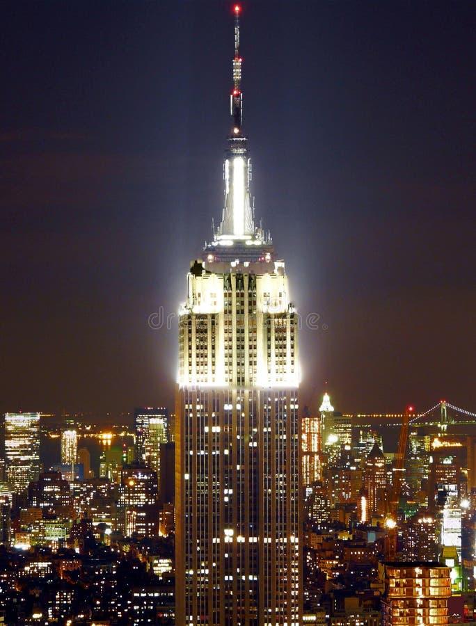 положение США york manhattan империи здания новое стоковое изображение