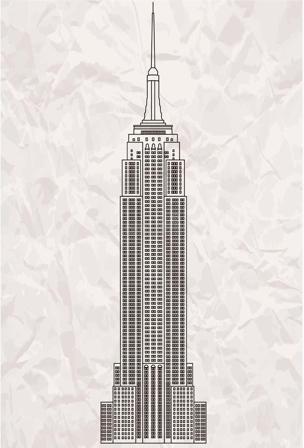 положение США york manhattan империи здания новое иллюстрация вектора