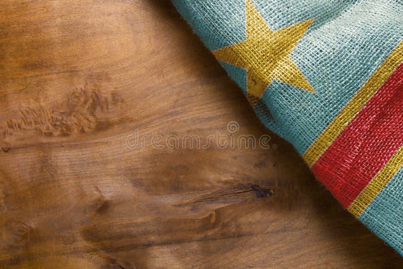 Положение флага Конго стоковые изображения rf