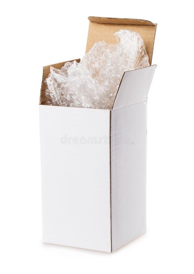 положите белизну в коробку стоковые изображения