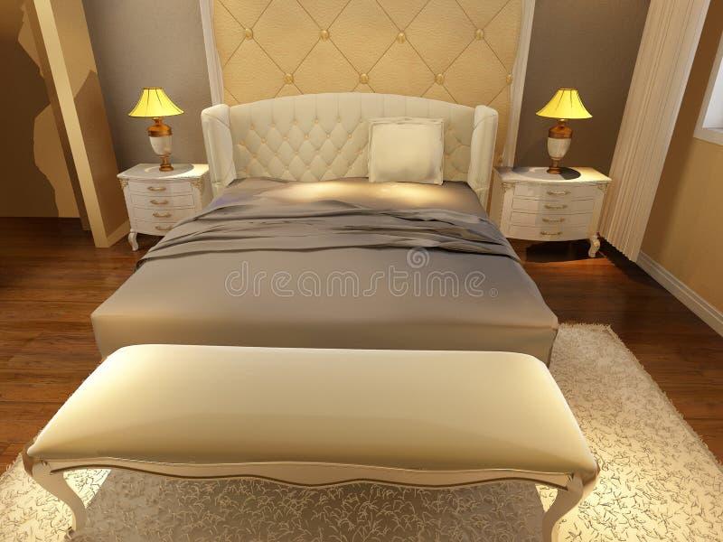 Download Положите комнату в постель иллюстрация штока. иллюстрации насчитывающей зодчества - 81812580