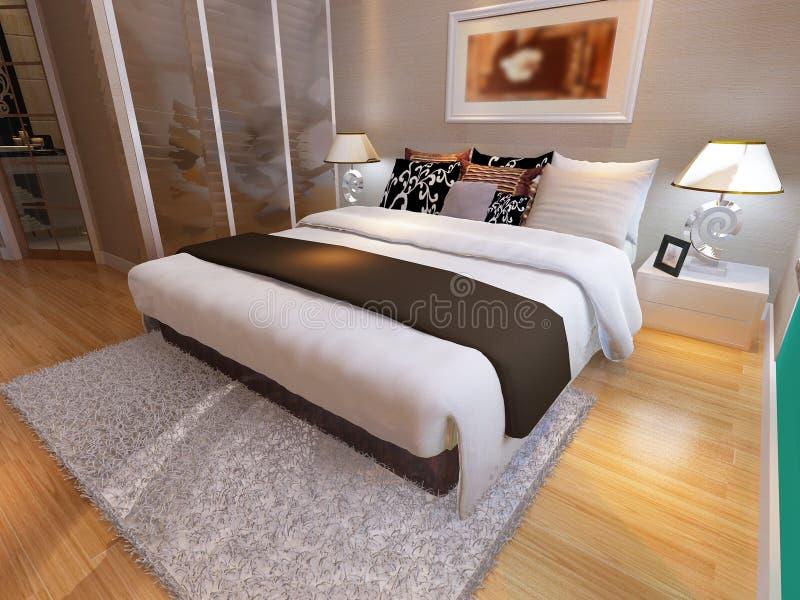 Download Положите комнату в постель иллюстрация штока. иллюстрации насчитывающей indoors - 81812628