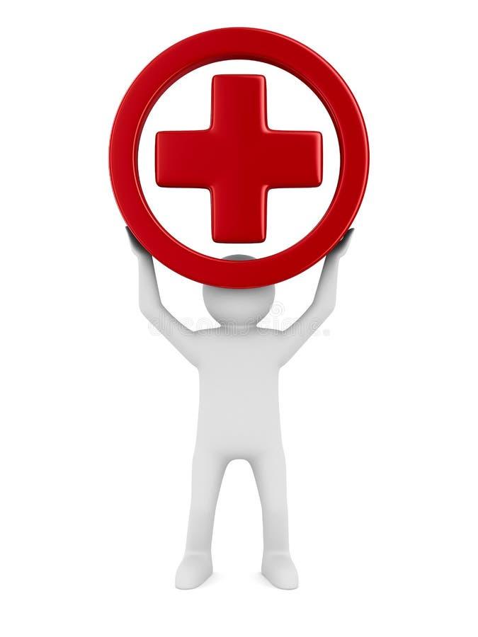 Положительная величина символа на белой предпосылке иллюстрация штока
