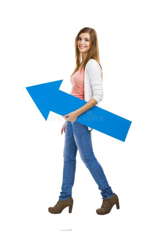 Положительная девушка стоковое фото rf