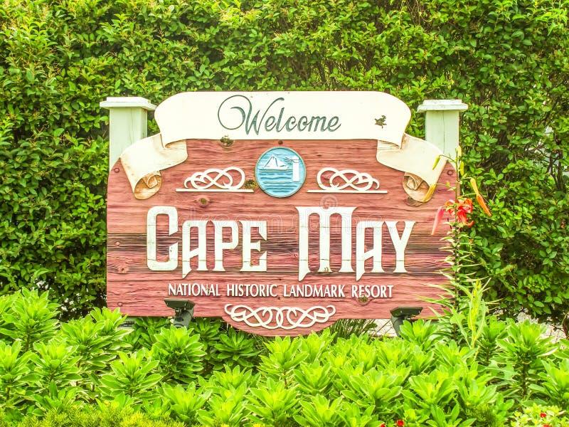 Положительный знак, Cape May, Нью-Джерси стоковая фотография