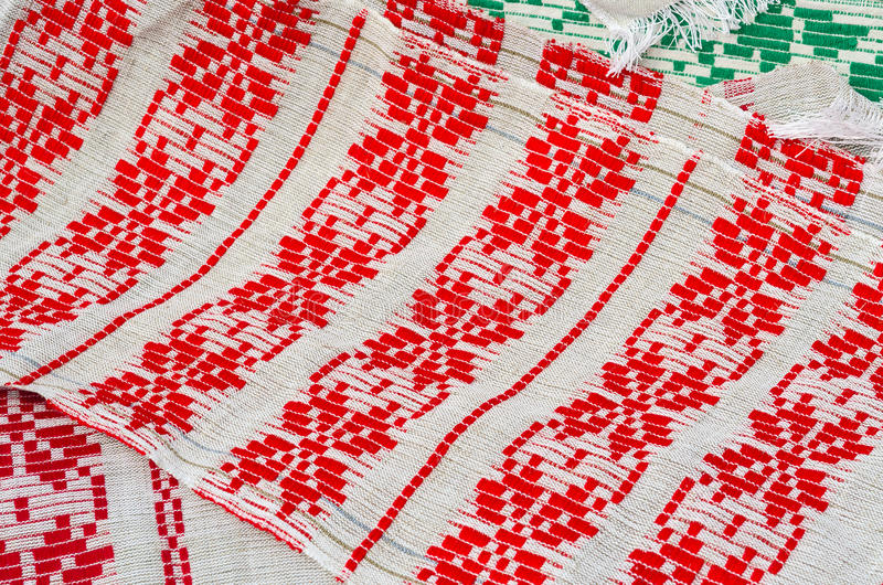 Полотенца с винтажным орнаментом стоковые изображения rf