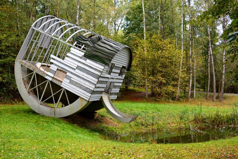 Под открытым небом музей современного искусства Parkas Europos vilnius Литва стоковые изображения rf