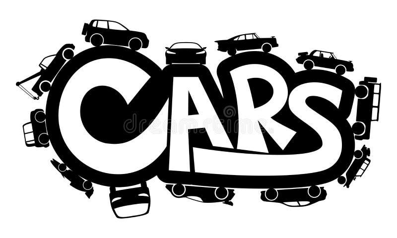 подпишите вектор автомобили иллюстрация вектора