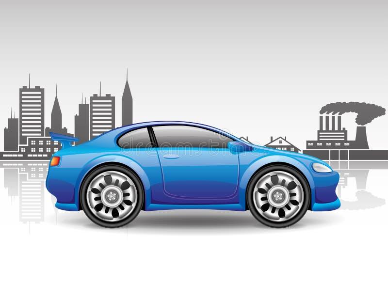 подпишите вектор Автомобиль города иллюстрация штока