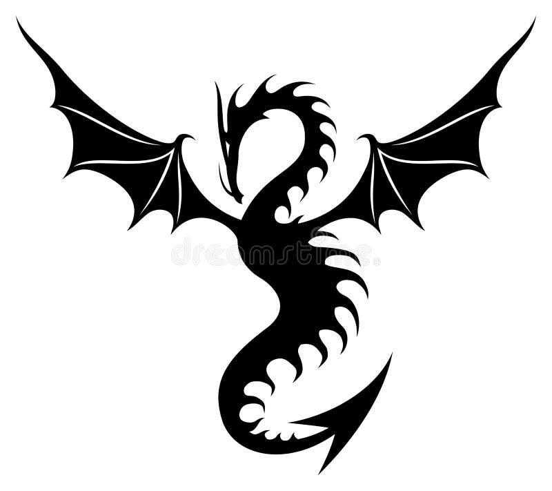 подпишите вектор Дракон иллюстрация штока