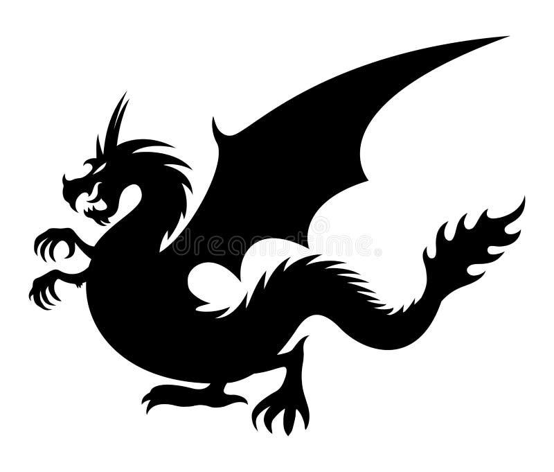 подпишите вектор Дракон иллюстрация вектора