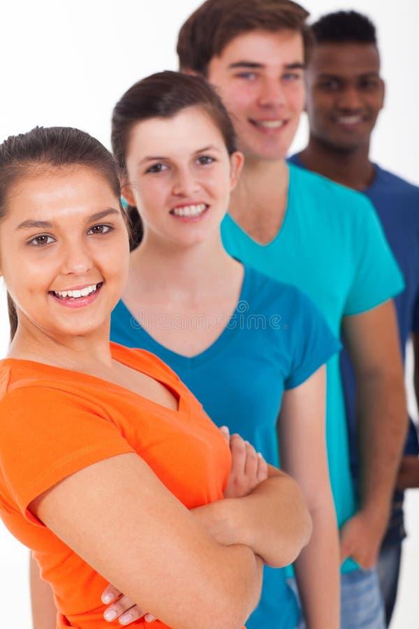 Подростки детенышей разнообразия стоковые фото