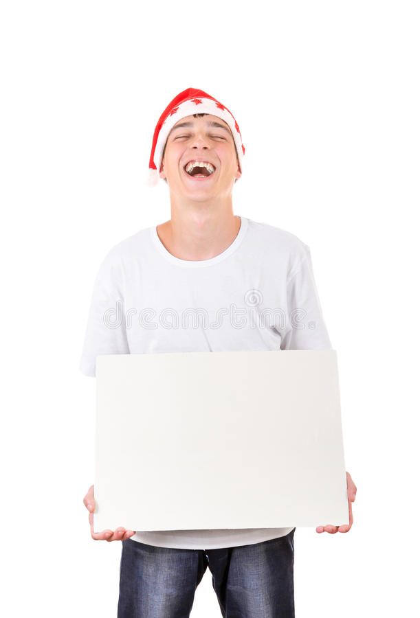 Подросток с смеяться над белой доски стоковые фото