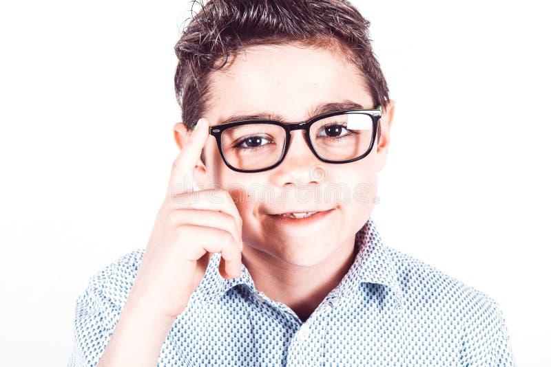 Подросток с eyeglasses стоковое изображение