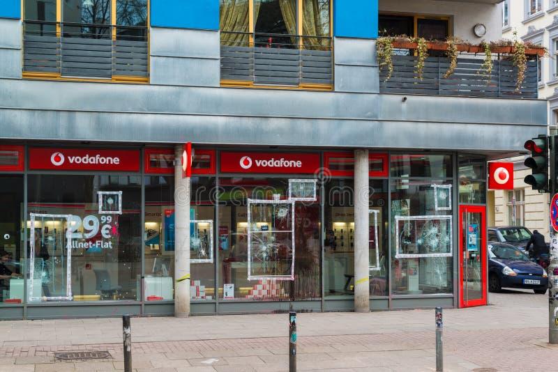 Подрывания на Schanzenviertel в Гамбурге, Германии стоковая фотография rf