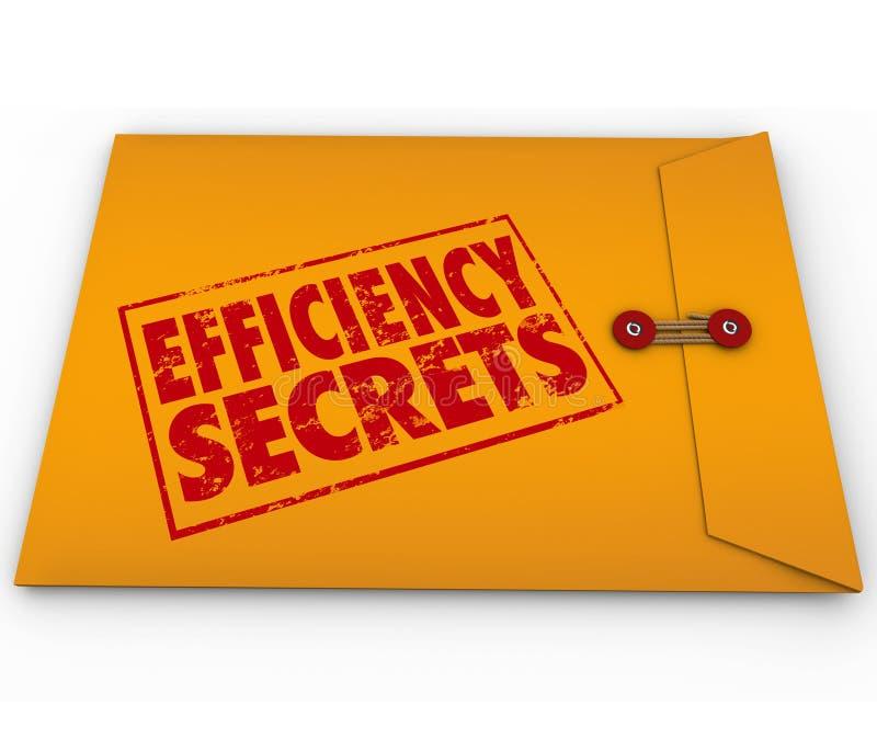 Подсказки конверта секретов эффективности расклассифицированные желтым цветом конфиденциальные бесплатная иллюстрация