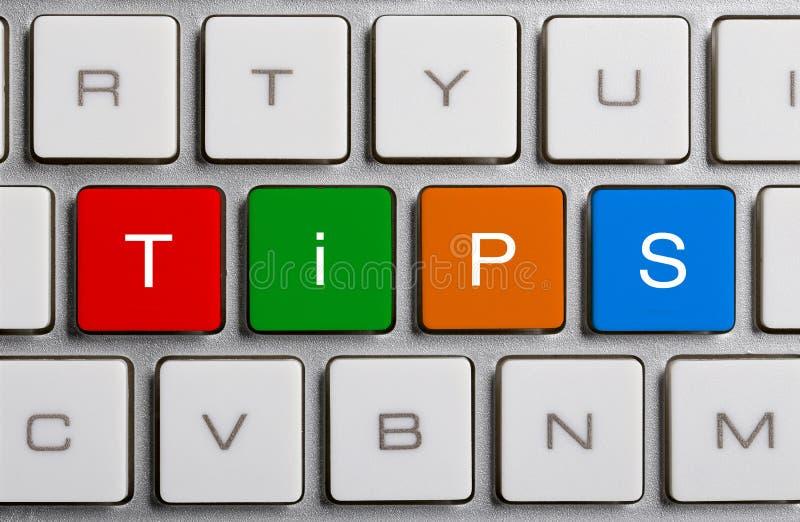 Подсказки на клавиатуре стоковая фотография rf