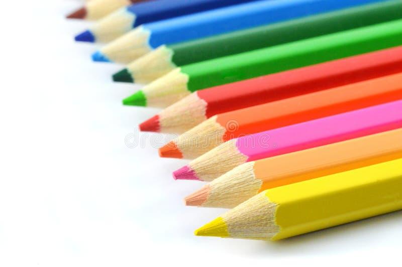 Подсказки Crayon стоковое изображение
