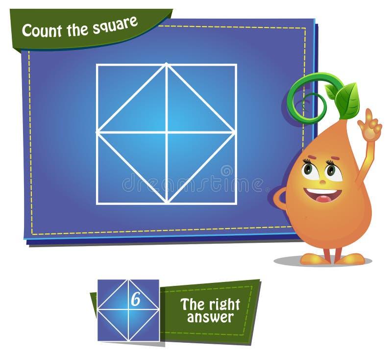 Подсчитайте ansver квадратов 6 иллюстрация штока