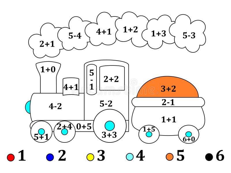 Подсчитывать и чертежи для малых детей - иллюстрации иллюстрация вектора