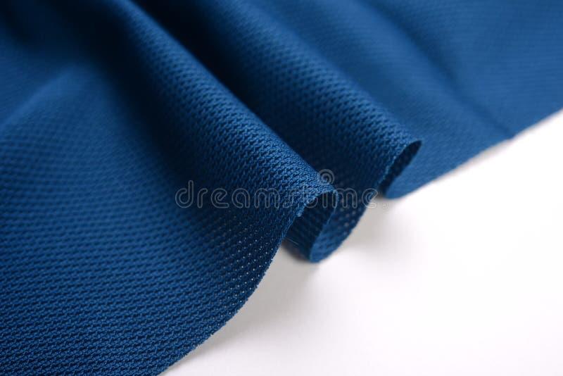 Полуночная голубая ткань хлопка стоковое фото rf