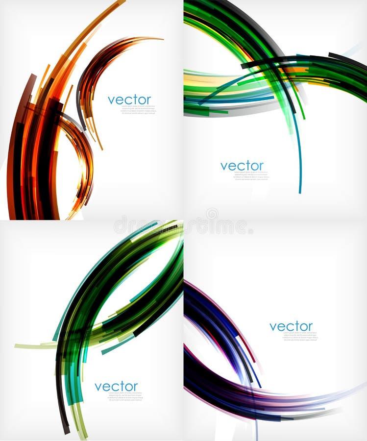 Полуокружность stripes современный абстрактный шаблон бесплатная иллюстрация