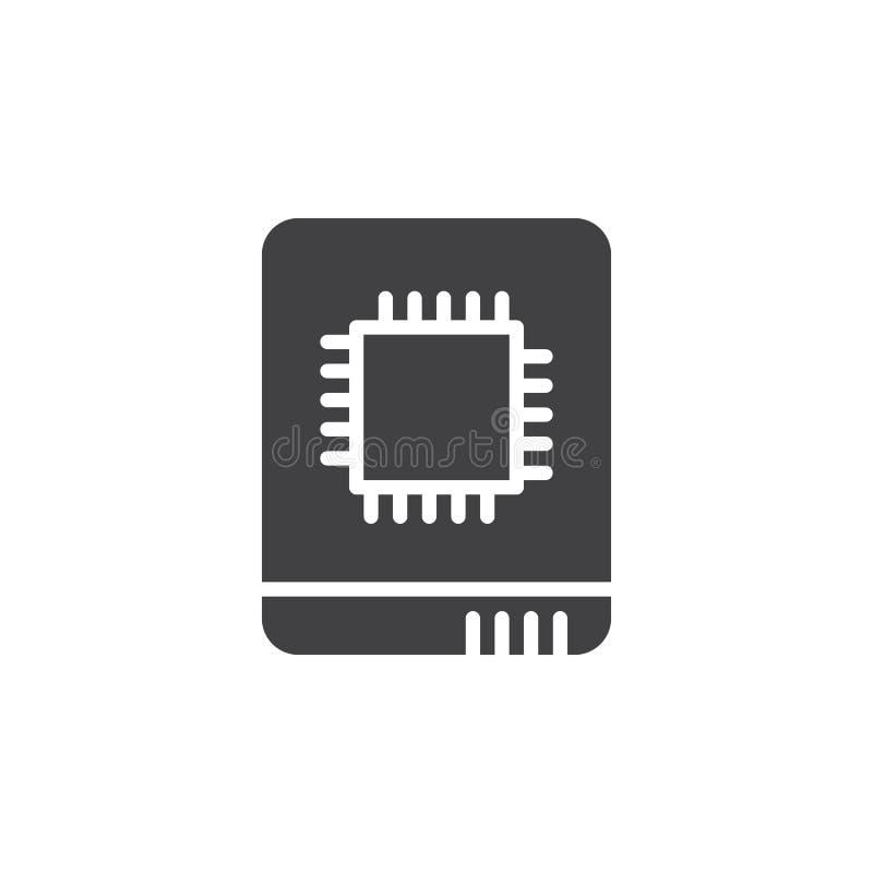 Полупроводниковый вектор значка привода, заполненный плоский знак, твердая пиктограмма изолированная на белизне иллюстрация вектора