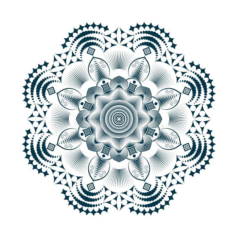 Полутоновое изображение мандалы стоковые изображения