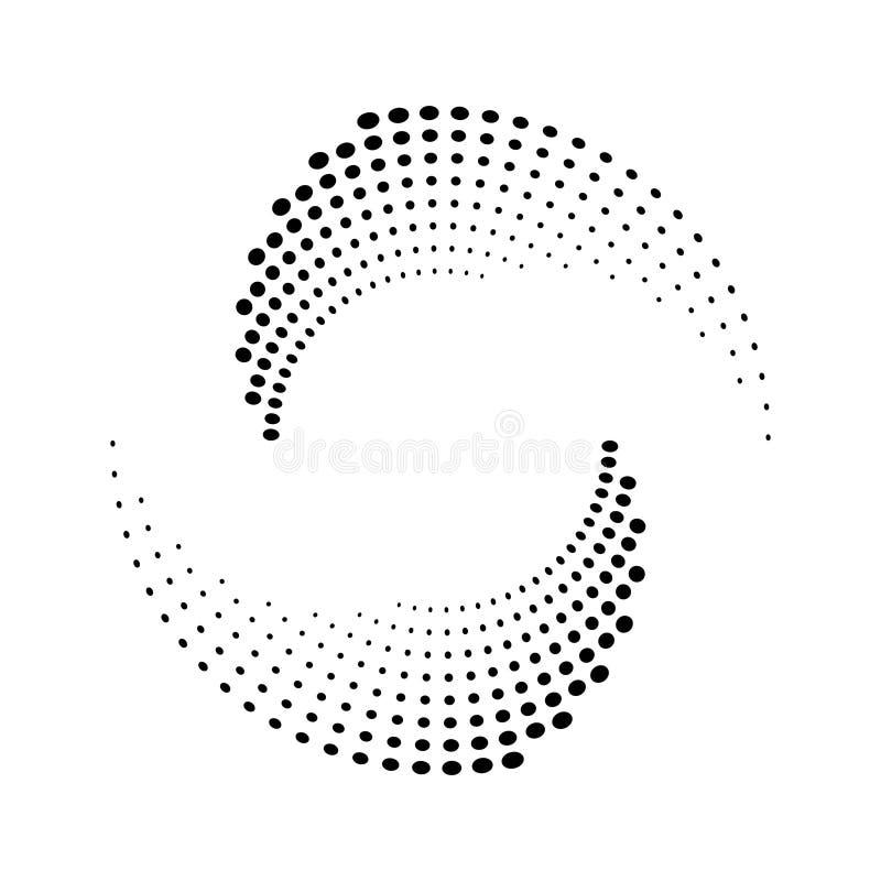 Полутоновое изображение ставит точки текстура круга иллюстрация штока