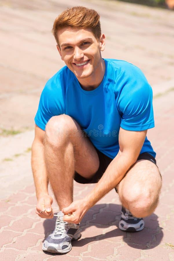 Получать готовый к jogging стоковое фото