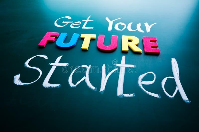 Получите вашу принципиальную схему начатую будущим стоковое фото
