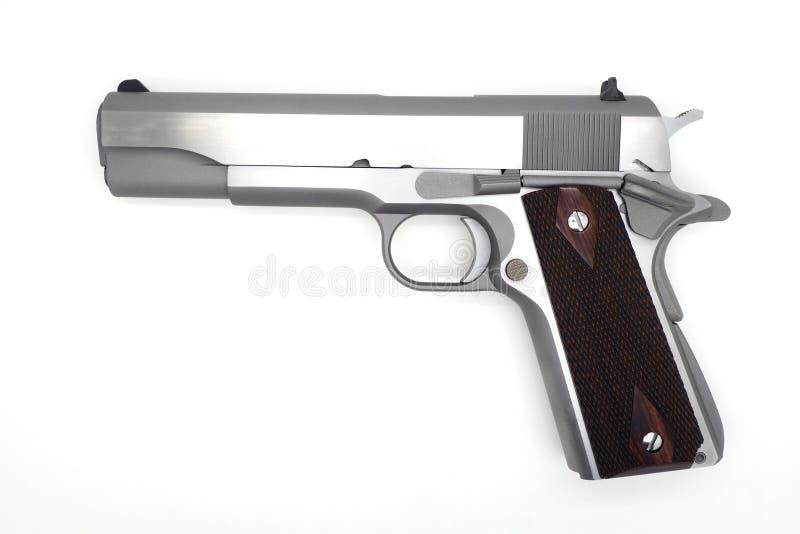Полу--autometic оружие на белой предпосылке стоковые фото