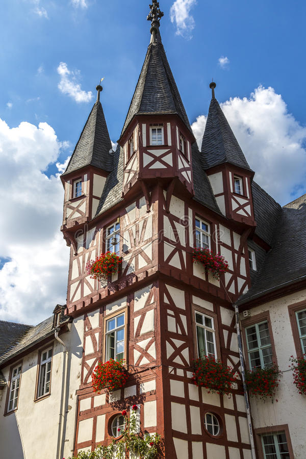 Полу-timbered домой в Германии стоковое изображение rf