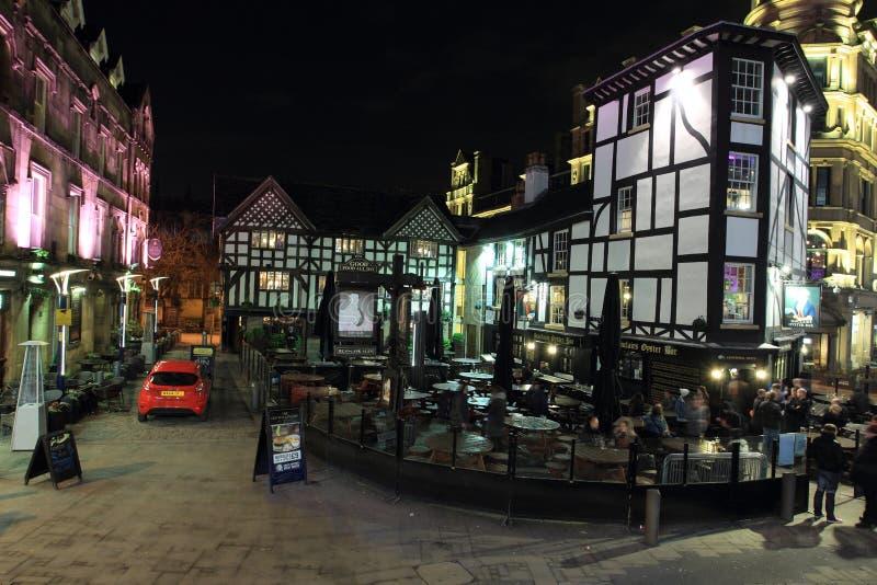 Полу-timbered дом в Манчестере стоковая фотография