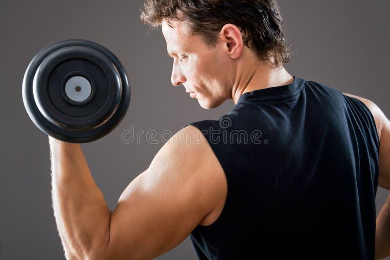 Подходящий мышечный человек стоковые фотографии rf
