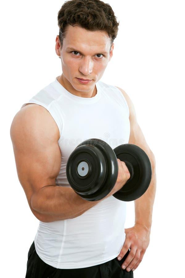 Подходящий мышечный человек стоковое фото rf