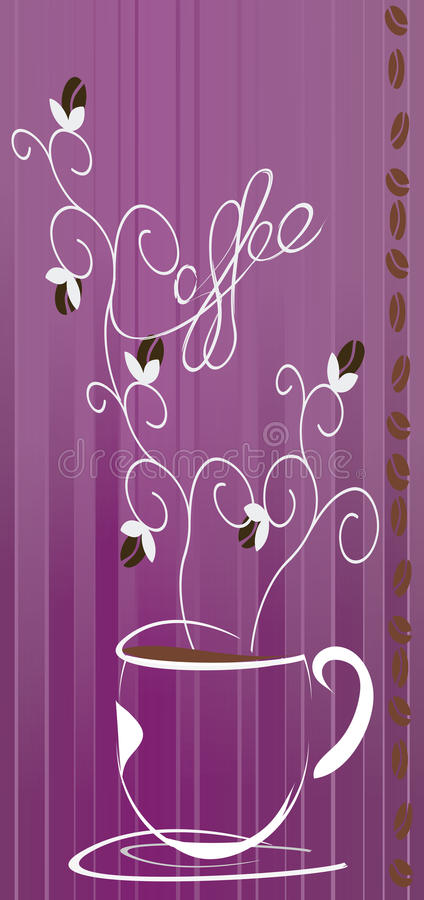 Download польза кофе предпосылки готовая Стоковое Фото - изображение насчитывающей художничества, пурпурово: 41650282