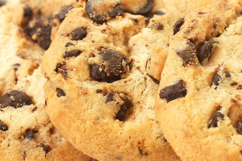 Польза крупного плана печений обломока шоколада как предпосылка стоковая фотография rf