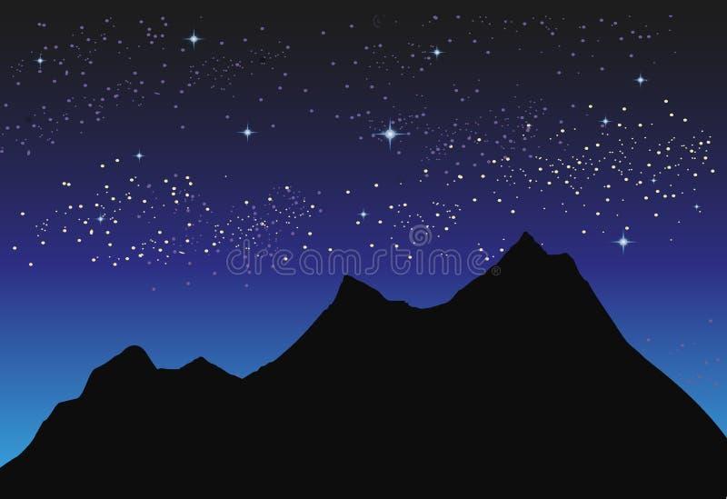 польза таблицы фото ночи ландшафта установки изображения предпосылки красивейшая иллюстрация вектора
