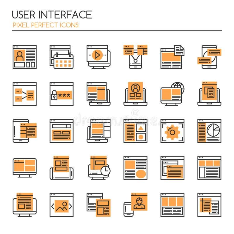 Пользовательский интерфейс бесплатная иллюстрация