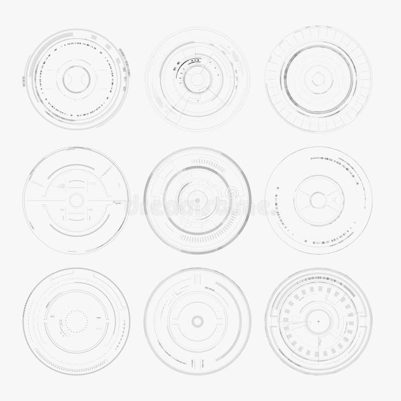 Пользовательский интерфейс Sci fi футуристический иллюстрация штока